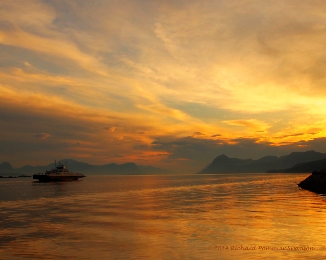 molde sunset ferry