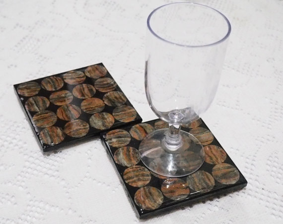 coasters and glass