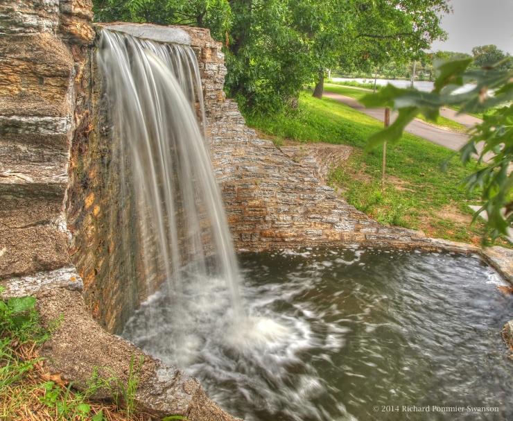 lake phalen waterfall