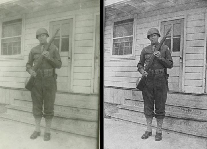 military photo restoration