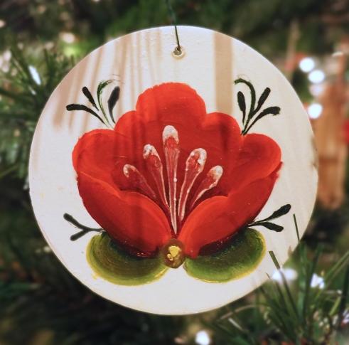 rosemal ornament