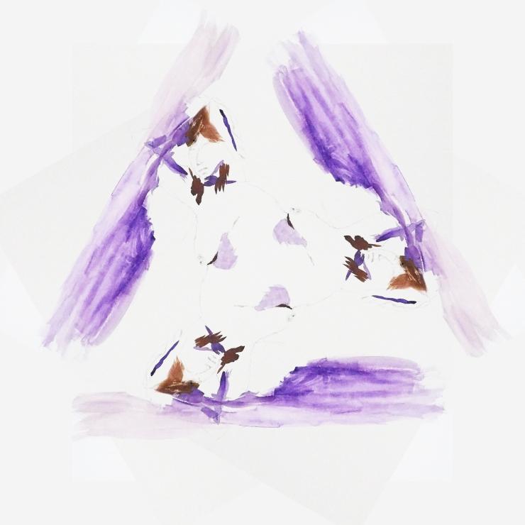 purple woman triangle