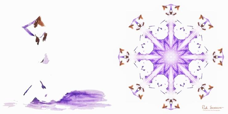 purple woman pinwheel