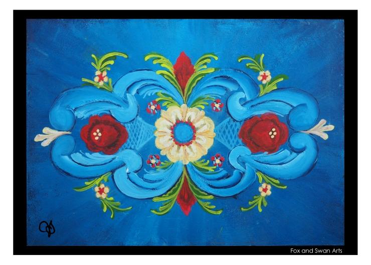 Rosemaled Painting