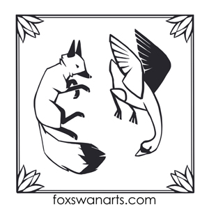 Fox and Swan Arts Logo