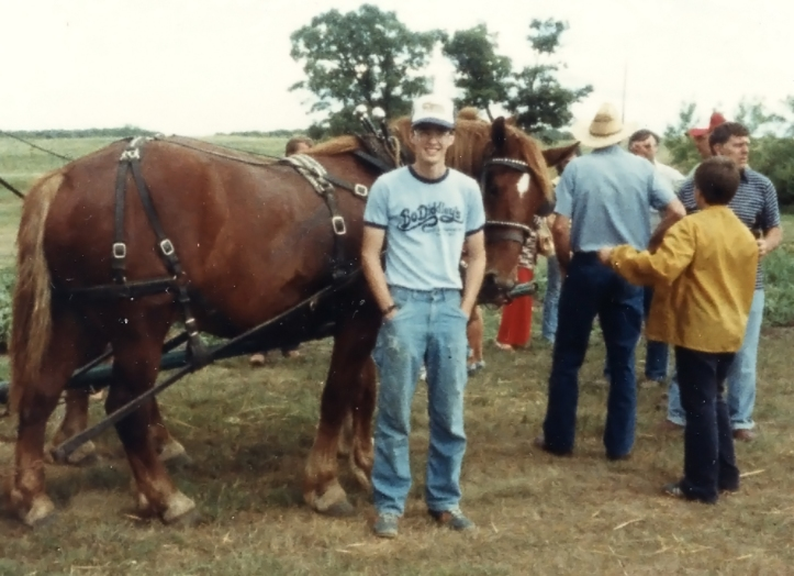 Rick on the Farm circa 1980