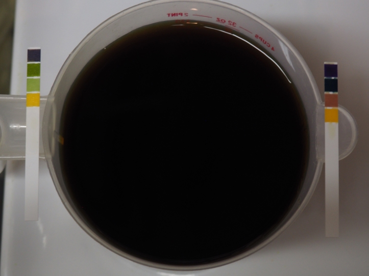 pH of coffee before and after buffering
