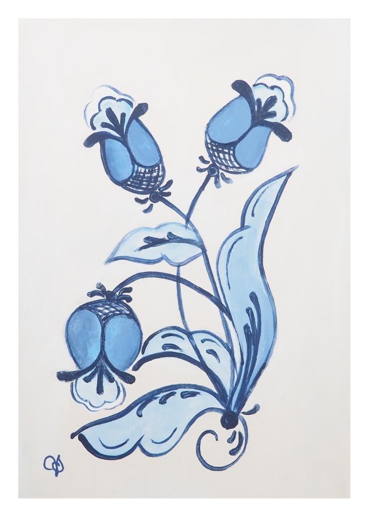 Blue Rosemal Painting
